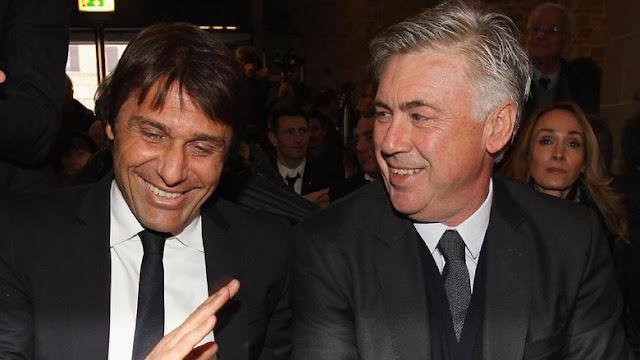 Ancelotti Nasehati Conte Musim Depan Chelsea Akan Lebih Sibuk
