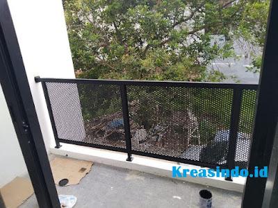 Jasa Railing Balkon Plat Perforated di Jabodetabek dan sekitarnya