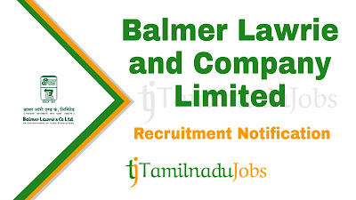 Balmer Lawrie Recruitment 2019, Balmer Lawrie Recruitment Notification 2019, Latest Balmer Lawrie Recruitment update