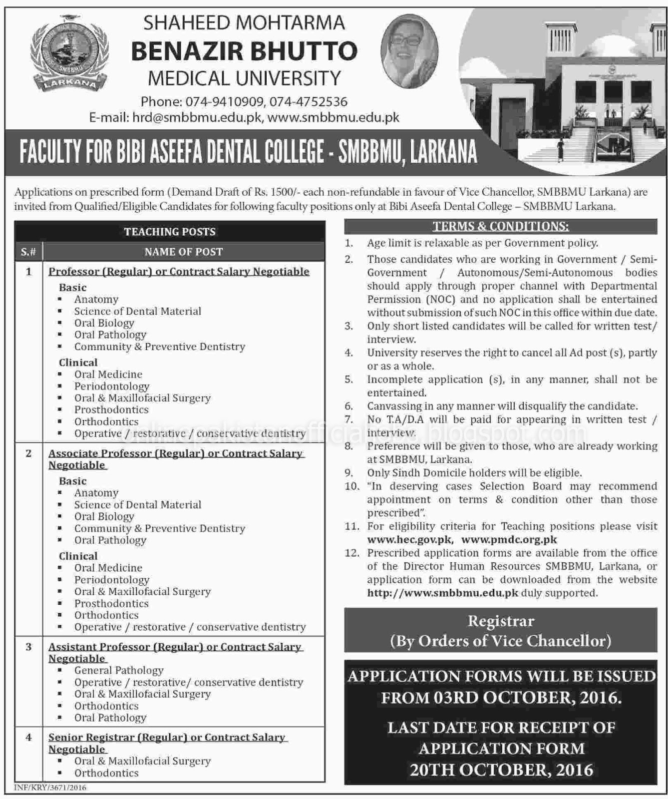Shaheed Mohtarma Benazir Bhutto Medical University Larkana Jobs