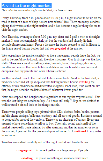 short essay on vegetables
