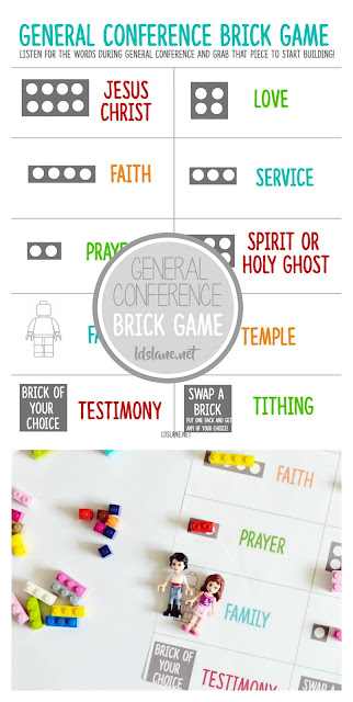 General Conference Brick Game - use with your LEGOS! ldslane.net