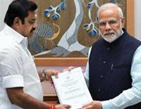 TN CM K Palaniswami meet PM Modi over damage of Gaja Cyclone