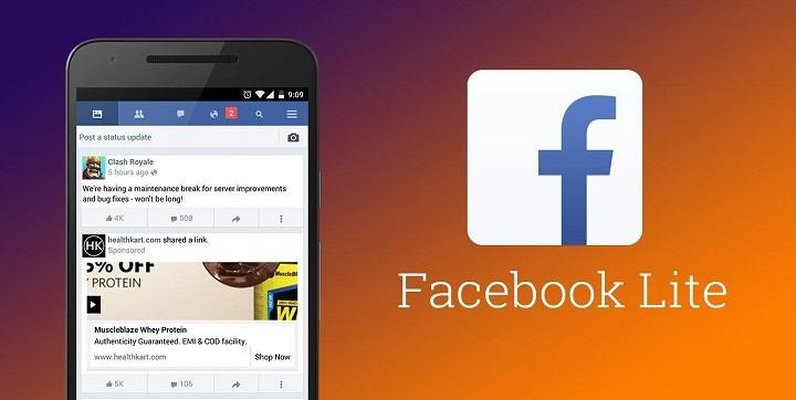 Facebook Lite ialah aplikasi versi ringan dari  Facebook Lite Capai 200 Juta Pengguna Aktif Bulanan