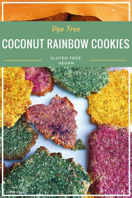 Dye-Free Coconut Rainbow Cookies (Gluten Free, Vegan)