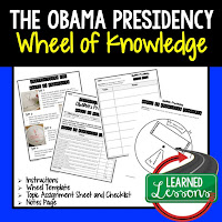 President Obama, Progressive Era, American History Activity, American History Interactive Notebook, American History Wheel of Knowledge