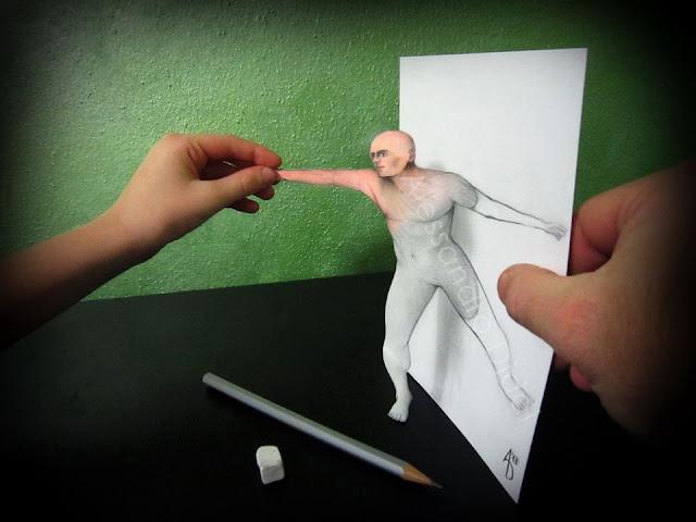 ilusi gambar 3 dimensi yang keren dan menakjubkan serta kreatif-16