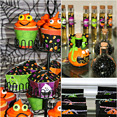 A Sweet Little Monsters Halloween Desserts Table