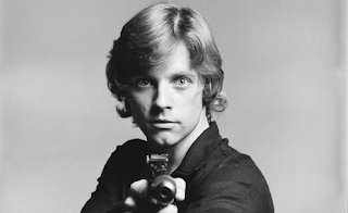 Un joven Mark Hamill como Luke Skywalker