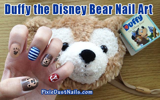 Duffy the Disney Bear Nail Art - perfect for a Disney Cruise!