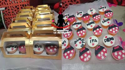 Paket Kue Pernikahan Gedung Cupcake Box