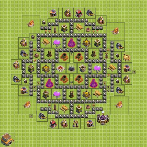 Clash of Clans Town Hall 8 Farming Type 2
