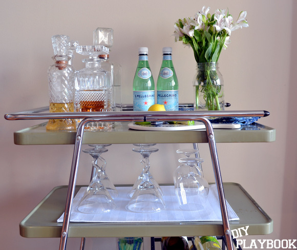 You can customize your bar cart in almost any way.