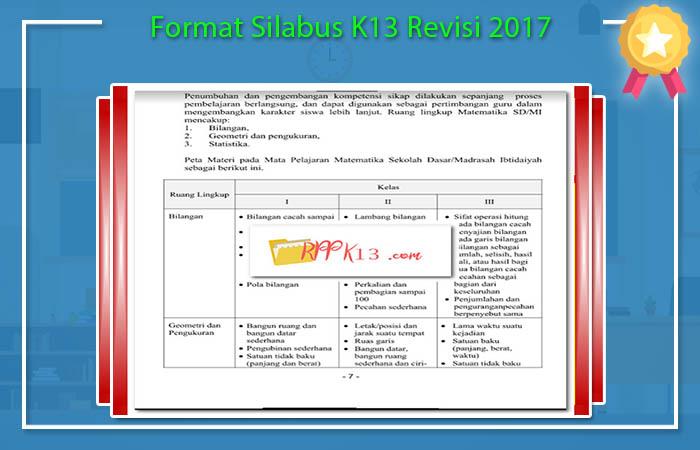Format Silabus K13 Revisi 2017