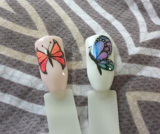 [Tutorial] dwa proste zdobienia z motylkami :)