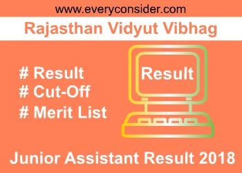 Rajasthan Junior Assistant Result 2018