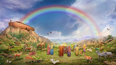Noah's Ark and rainbow