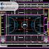 مخطط مشروع قاعة رياضية بتصميم جميل اوتوكاد dwg