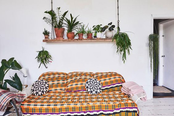 deco ideas boho style, plants