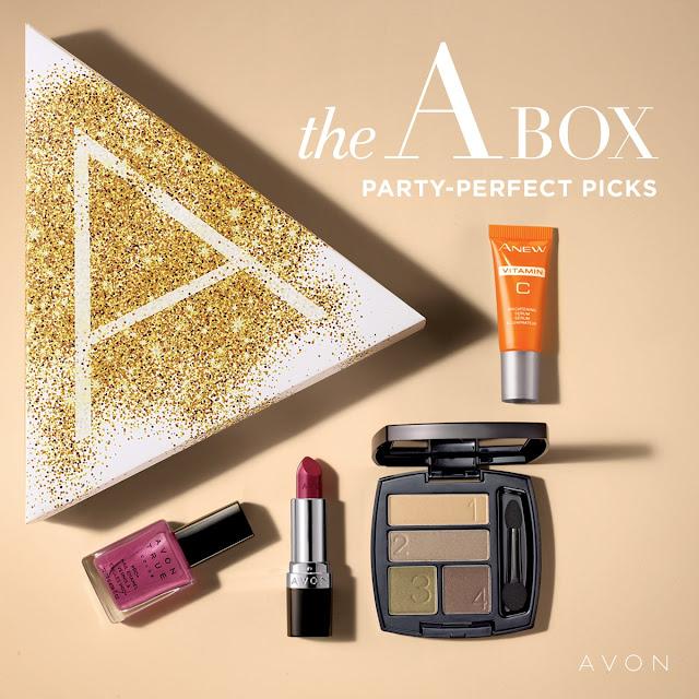 Avon A Box Campaign 1 2019 - Party Perfect Picks Only $10 with $40 purchase. #Avon #AvonABox #Avondeal #AvonDealoftheDay #DealoftheDay #makeupdeals #beautybargains #budgetmakeup #beautyonabudget #saveonbeauty