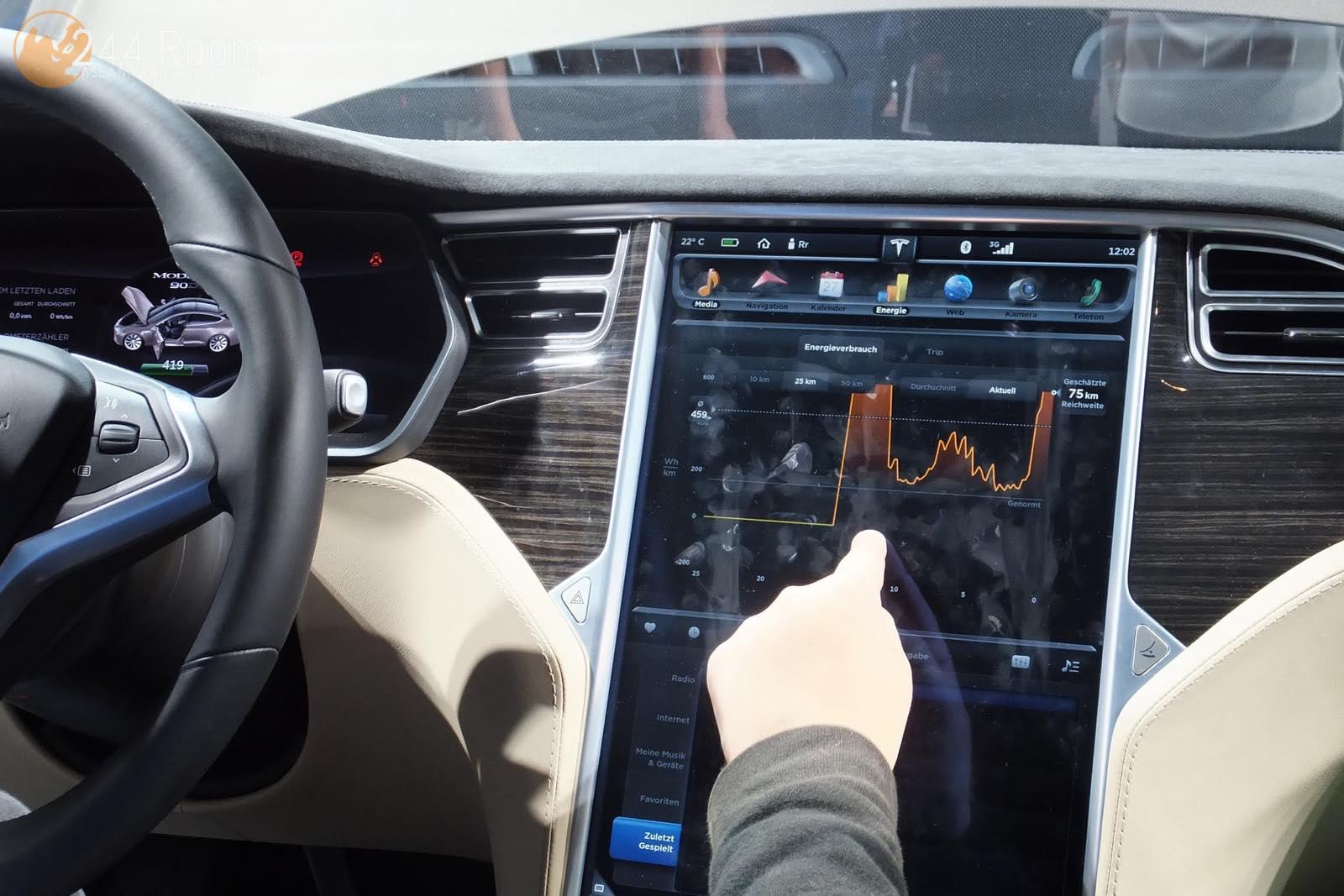 テスラモデルSタッチパネル Tesla ModelS Touch screen2