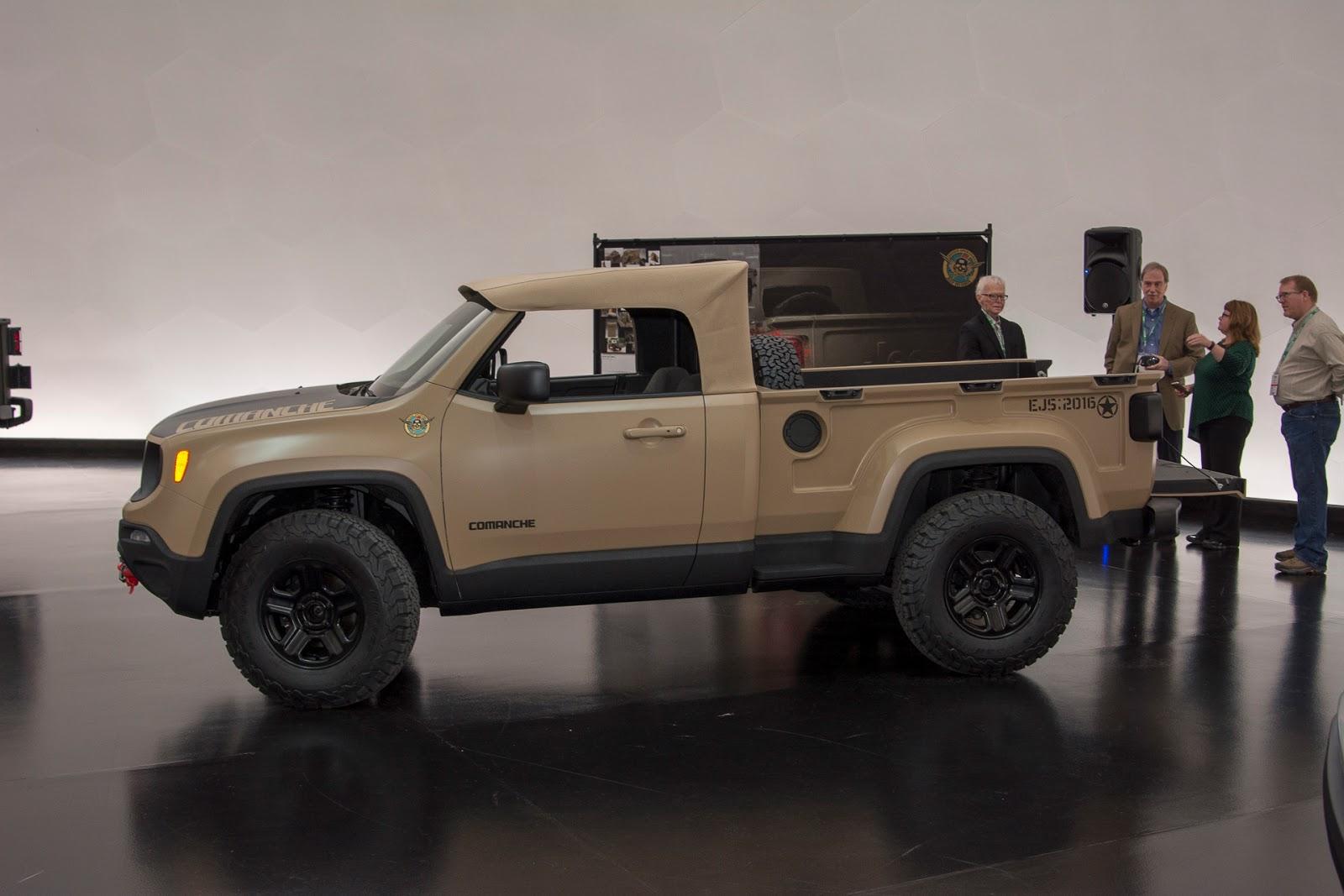 Automotiveblogz Jeep Renegade Comanche Pickup Concept 2016 Fc Truck