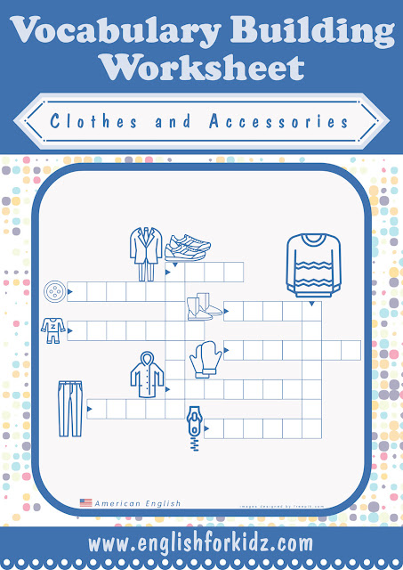 Clothing crossword puzzle