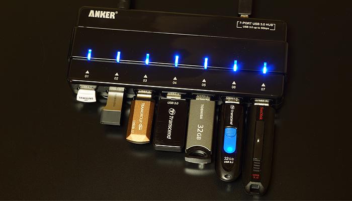 ANKER 7ポート USB3.0ハブを使った感想まとめ
