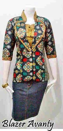 15 Model Batik Kerja Modern 2017  Model Baju Batik Kantor