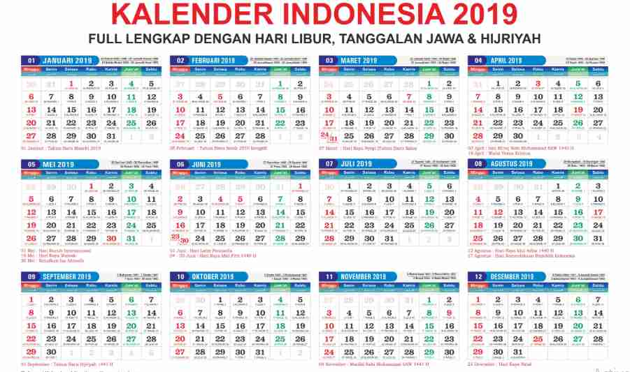Download Kalender Nasional 2019 Pdf