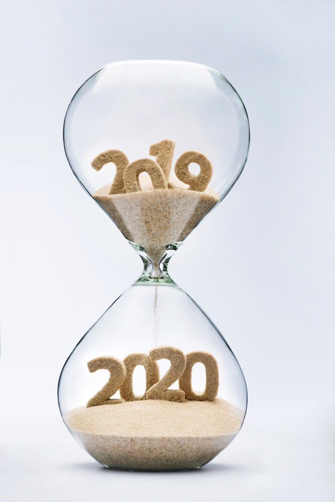 Happy New Year 2020, Hourglass Time