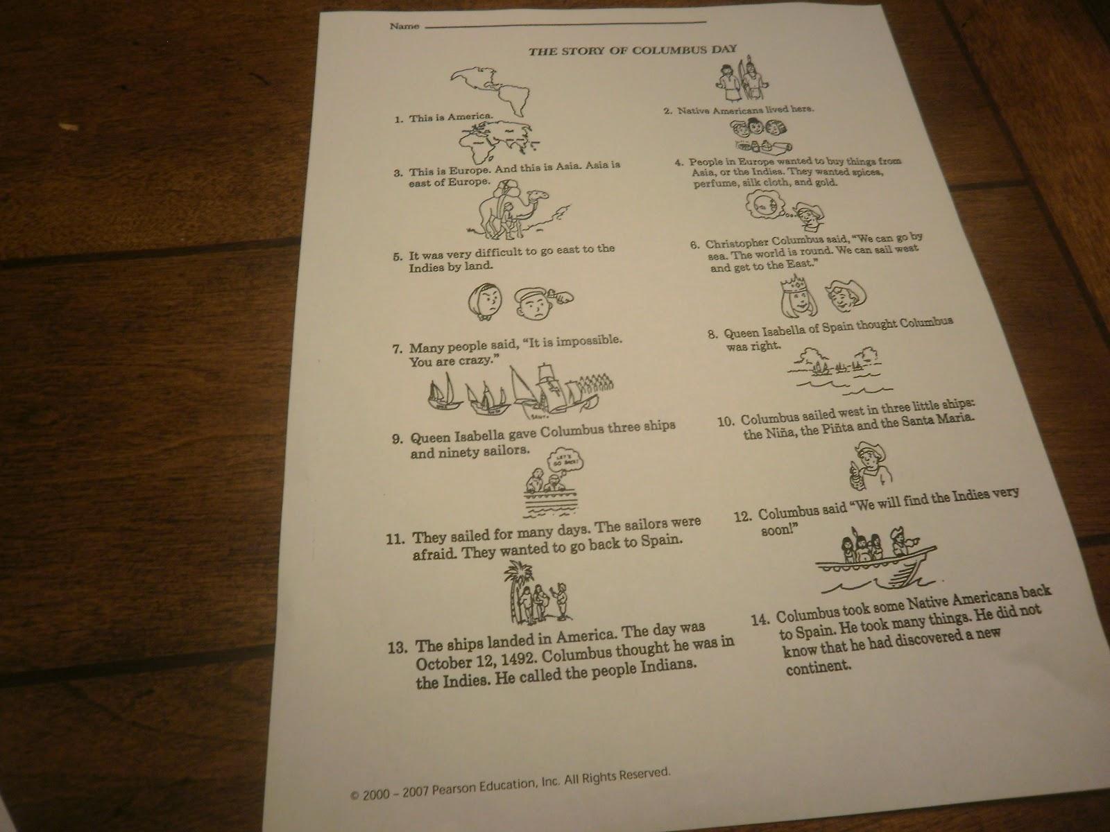 World Adventures 2nd Grade Christopher Columbus Lesson