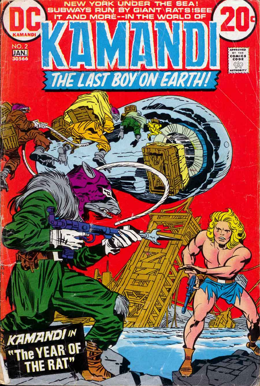 Kamandi v1 #2 dc 1970s bronze age comic book cover art by Jack Kirby