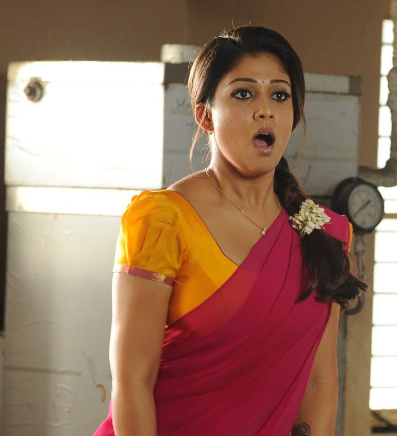 Nayantara Latest Photos In Hot Spicy Red Half Saree