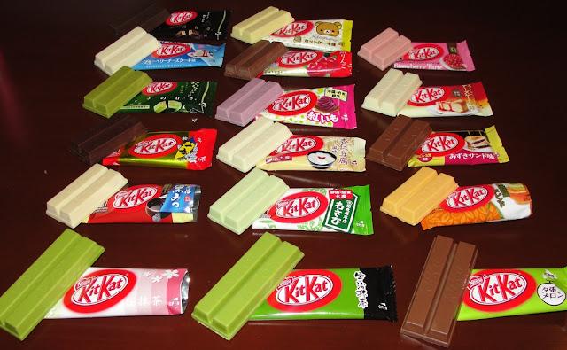 Kitkat com sabores variados