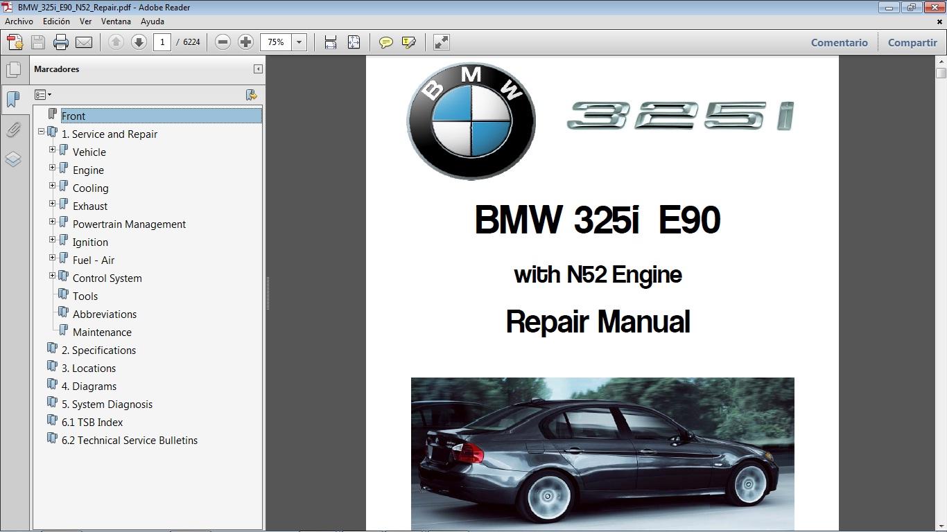 BMW 325i chassis E90 motor N52