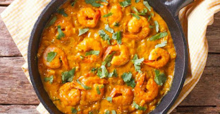Delicious Shrimp With Cream And Turmeric So Tasty