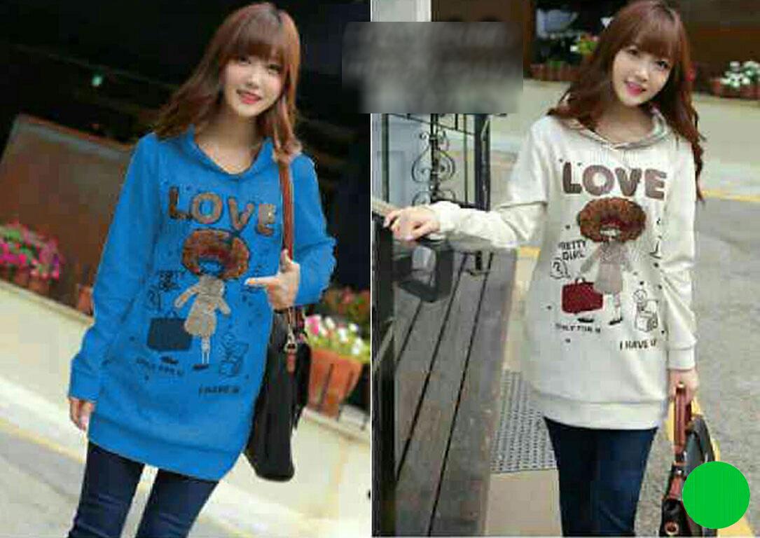 Jual Baju Lengan Panjang Sweater LOVE - 13383