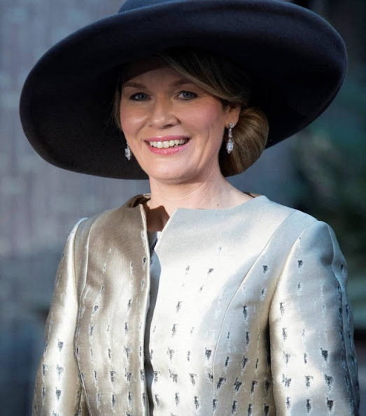 Queen Maxima wore Claes Iversen dress, Queen Mathilde wore Natan Dress FW16 collection