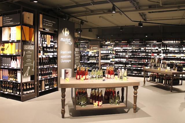 Carrefour Market Gourmet Milano vini enoteca supermercato