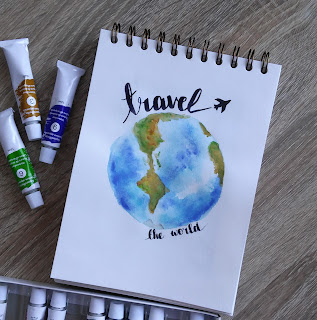 travel | globe | paint earth