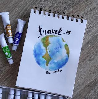 travel | globe | paint earth