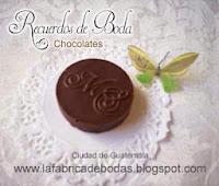 Venta chocolates personalizados con iniciales en guatemala