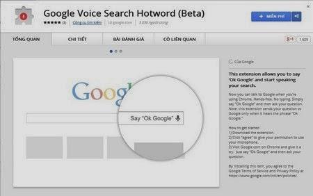 Google thêm tính năng tìm kiếm giọng nói cao cấp cho Chrome