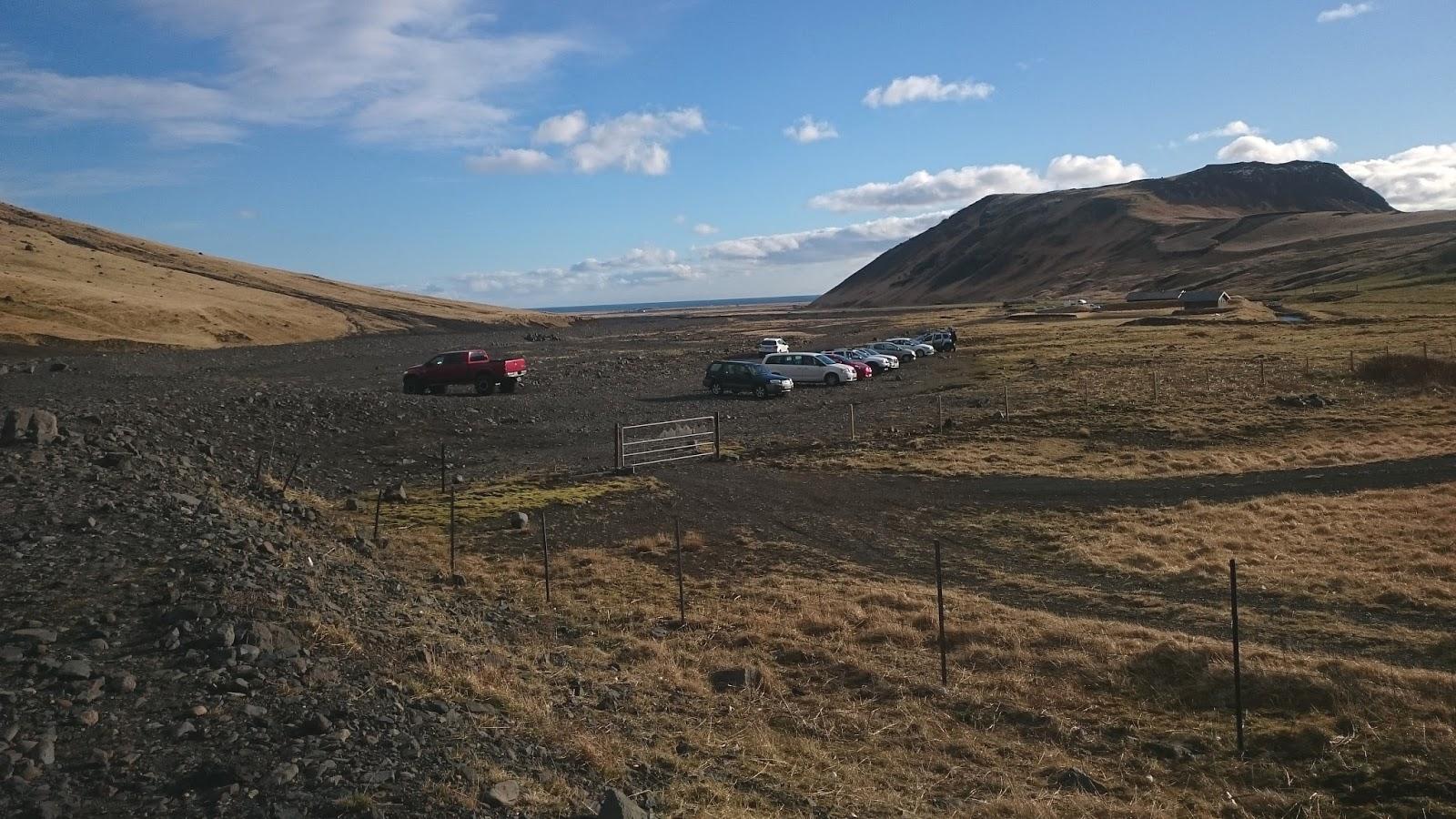 islandzki parking, parking w Islandii, Islandia