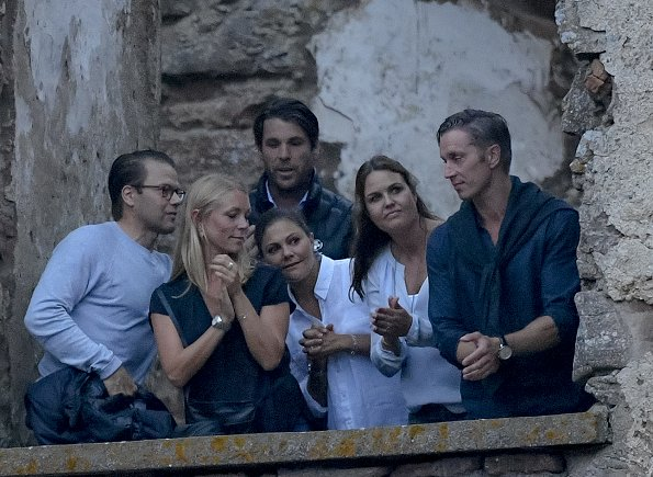 Crown Princess Victoria and Prince Daniel attended the Swedish pop singer Per Håkan Gessle's concert at Borgholm Castle