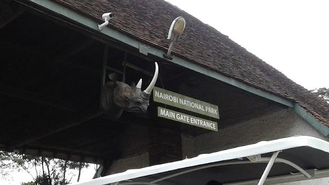 Entrada al Parque Nacional de Nairobi