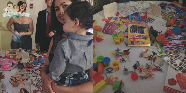 mesa de atividades das criancas