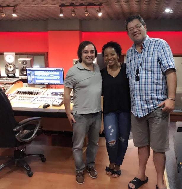 Yola Semedo encontra-se no estúdio para mais um trabalho