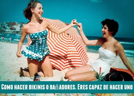 bikinis, bañadores, playa, costura, patrones, tutoriales